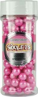 Shimmer Bright Pink Sixlets are perfect for princess parties and candy buffets! Baby Shower Cake Decorations, Baby Shower Cakes, Sixlets Candy, Pink Princess Party, Cake Decorating Supplies, Food Decoration, Ben And Jerrys Ice Cream, Love Cake, Candy Buffet