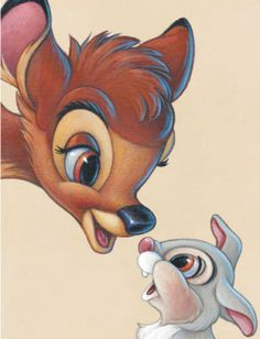 Bambi and Thumper - Best of Friends Art Print
