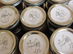 Yummy jam, whimsical labels. Hand made. Find it at The Garage
