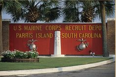 USMC paris island hahaha had to do it. it is a part of my life trip... d ...