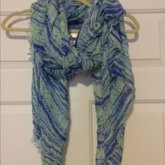 Multi watercolor scarf This scarf is great, it's long enough to wear multiple ways, it's lightweight and a very soft material. Smoke free home. Open to offers. No trades. Francesca's Collections Accessories Scarves & Wraps
