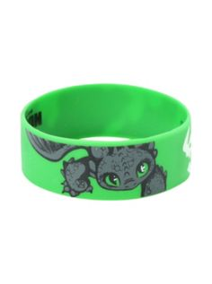 How To Train Your Dragon Toothless Rubber Bracelet it doesn't get anymore kawaii than this