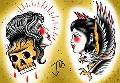 #trad #tat #traditional #tattoo #ink #tattooflash #girlstattoo #eagletattoo #wacom #wacomart #sketchbookpro #wacomtattoo #olomouctattoo