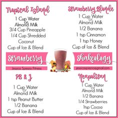 The Best Strawberry Shakeology Recipes Source Strawberry Shakeology Recipes, Strawberry Shake Recipe, Vanilla Shakeology, Best Shakeology Recipes, Shakeology Flavors, Thrive Shake Recipes, 310 Shake Recipes, Herbalife Shake Recipes, Shakeology Shakes
