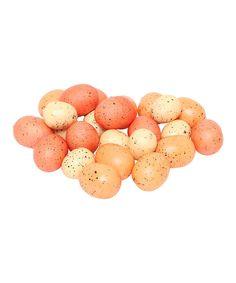 Another great find on #zulily! 24-Piece Peach & Orange Speckled Egg Set by ZiaBella #zulilyfinds