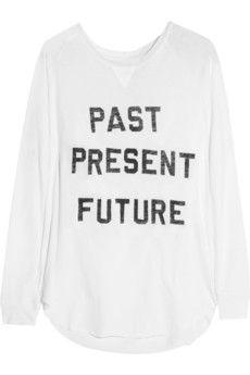 Zoe Karssen Past Present Future cotton and modal-blend top | NET-A-