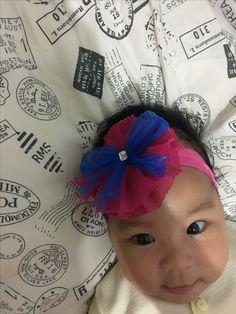 Masayu with pink headband