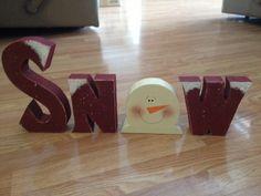 Snow. Primitive. Crafts. Christmas.