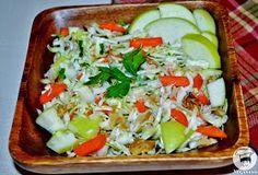 Veganana: Salada de Repolho com Maçã Verde e Nozes