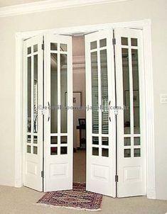 Porta camarão quatro folhas com pintura laca P.U branco acetinado (Sayerlack) - Ecoville Portas Especiais