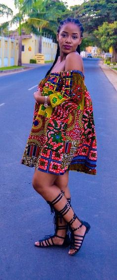 9a335278f5a3 simple and beautiful african print ankara off shoulder short gown styles