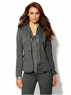 7th Avenue Suiting Collection One-Button Jacket - Light Black - Average
