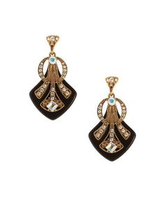 Loving this Crystal & Gold Embellished Drop Earrings on #zulily! #zulilyfinds~~~~14k gold plated! I didnt even read that when I bought them! Boy was I surprized! They are so sweet, i wear them all the time.