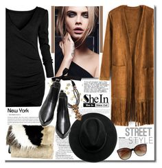 """""""SHEIN"""" by j-sharon ❤ liked on Polyvore featuring Rienne, River Island, GetTheLook, StreetStyle and Sheinside"""