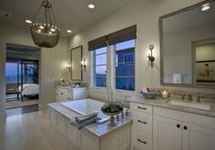 Simple, sophisticated and luxurious. #masterbathroom #spa