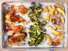 This dinner couldn't be easier. You can make the chicken, broccoli and fingerling potatoes on one sheet pan for a quick, balanced meal.