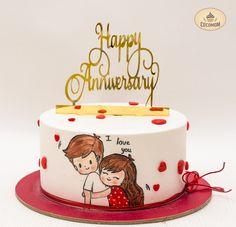 Anniversary Cake Designs, Anniversary Dessert, Anniversary Cupcakes, Happy Anniversary Cakes, Wedding Anniversary Cakes, Cake Designs For Boy, Cake Design For Men, Fondant Cake Designs, Cake Decorating Designs
