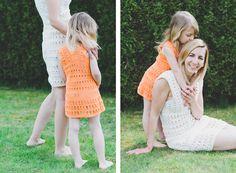 Jennifer und Little Jennifer - gehäkelte Kleider Austria, How To Make, Collection, Dresses, Fashion, Curve Dresses, Fashion Styles, Dress, Fashion Illustrations