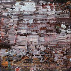 Koen Lybaert, abstract N° 1366 [Aleppo] 80 x 80 cm, oil on canvas.