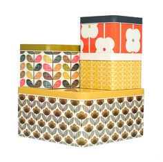 Gorgeous Orla Kiely kitchen tins, suitable for any contemporary or retro decor! It's sure to keep your baking, biscuits and crackers nice and fresh.