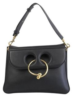 "cdf5a0b7a175a4 1040 with Code ""feb100"" Pierce Medium Black Calfskin Leather Shoulder Bag"