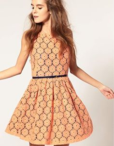 ASOS Lace Dress in Floral Print  $81.81