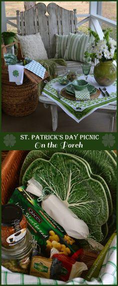 St. Patrick's Day Picnic on the Porch #StPatricksDay #picnic