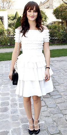Leighton Meester in Dior.