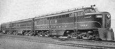 "(FM ""Erie-Built"").  Pennsylvania Railroad #9456 Fairbanks-Morse FM ""Erie-Built""  A and B units, each 2000 H.P..    (AAR) A1A-A1A Built in 1947-48. PRR Class FF20."
