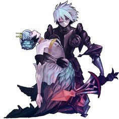 Gwendolyn and Oswald from Odin Sphere.