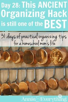 This is an organizing hack you've heard before, but have you really put it into practice? It's still one of the best ideas for the kitchen, closet, bedroom, and all of your home. Part of a series of organization tips for the life of a homeschool mom!