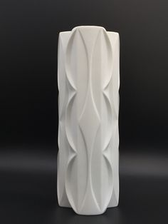 Scherzer 515-3 Side. Bavaria Germany white bisque porcelain midcentury vase. Vintage Vases, Bavaria Germany, White Vases, 3 D, Surface, Porcelain, Collections, Glass, Design