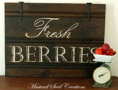 Fresh Berries - sweet! Love the vintage scale too!