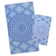 New Denim Colour Aztec Tribal premium Turkish Beach Towel made by Loopys