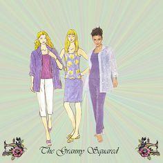 Misses Separates: Sleeveless Top  Long Sleeve by TheGrannySquared