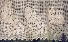 Filet crochet curtain with butterflies (1 Comment)