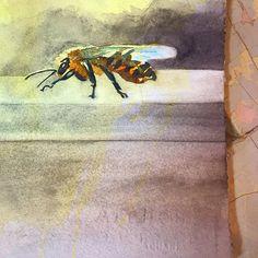 2015 Nancy Murphree Davis nmdART.com Bee, Watercolor, Celebrities, Artwork, Painting, Instagram, Pen And Wash, Watercolour, Work Of Art