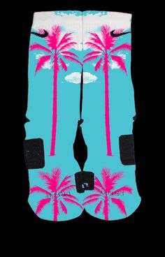 Lebron 11 South Beach Custom Nike Elites by TheSickestSocks, $35.99