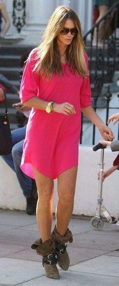 Elle McPherson | Neon Pink