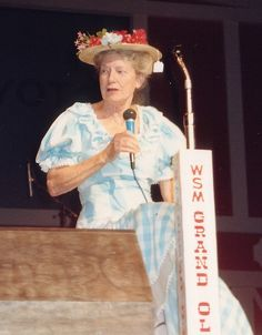 Minnie Pearl at the Grand Ole Opry