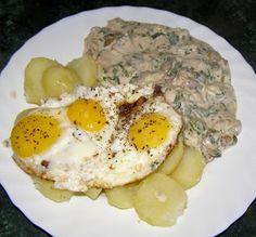 W Mojej Kuchni Lubię.. : smaczny obiad na szybko jajeczno-grzybowy...