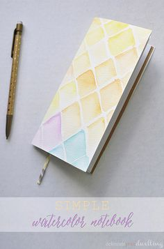 Watercolor notebook | delineateyourdwelling.com