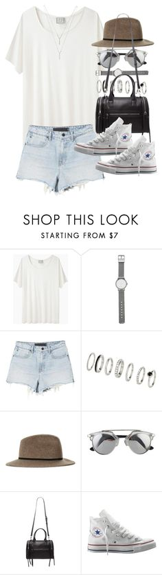 """""""Outfit for summer with converse"""" by ferned ❤ liked on Polyvore featuring Base Range, Witchery, Topshop, Forever 21, Converse and BCBGeneration"""