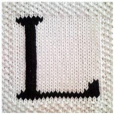 PDF Knitting pattern capital letter L afghan / blanket square - PDF will be emailed after purchase         April 14, 2015 at 08:54PM