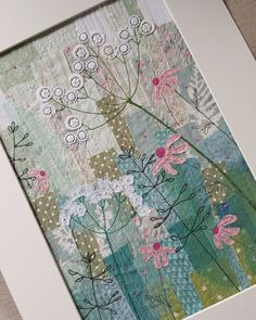 Well May is here and so it seems is the sunshine.at least for the moment! Free Motion Embroidery, Embroidery Applique, Machine Embroidery, Fabric Cards, Fabric Postcards, Simple Embroidery Designs, Creative Textiles, Flower Quilts, Quilting