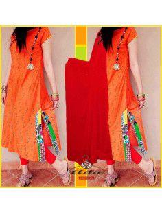 Trendy Multicolor Orange Dress