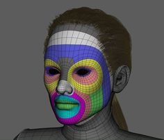 ArtStation - Topology, David Vercher Face Topology, 3d Human, 3d Mesh, Modeling Tips, 3d Tutorial, Character Modeling, Wireframe, Zbrush, Facial