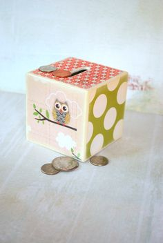 Little Owls Wood Bank - Piggy Bank