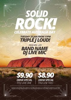 Create an event flyer or poster for Anzac Day or Australia Day without the need for a graphic designer. Check out the huge range of professionally pre-designed posters, flyers and social media graphics that you can update yourself, in minutes. Anzac Day, Australia Day, Drink Specials, Social Media Graphics, Flyers, Diy Design, Posters, Graphic Design, Templates