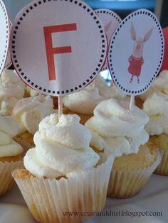 Cupcakes na urodzinowy kinderbal Desserts, Food, Tailgate Desserts, Deserts, Essen, Postres, Meals, Dessert, Yemek